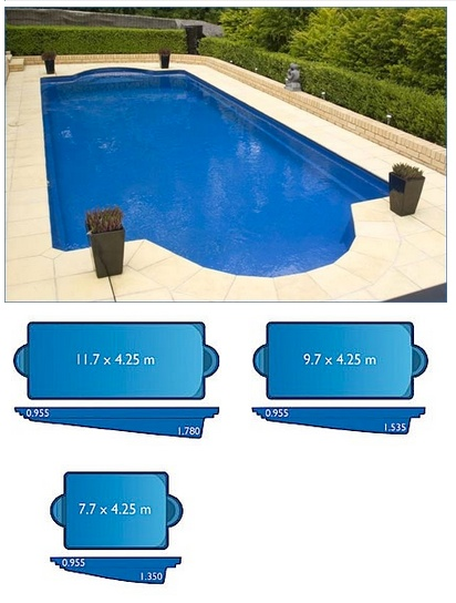 Caesar Pool Range Harvest Pools Fibreglass Swimming Pools Bermuda Pools