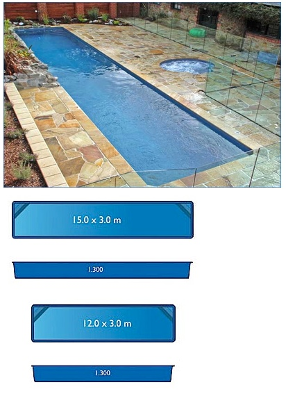Lap pool range harvest pools fibreglass swimming pools - Swimming pool size ...